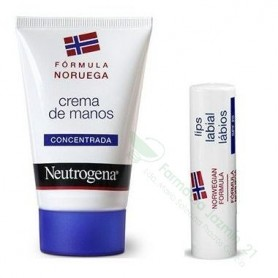 Neutrogena Pack crema de manos + labial