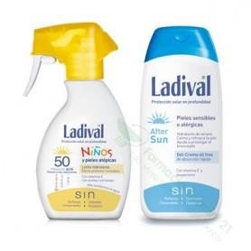 LADIVAL NIÑOS FOTOPROTECTOR FPS 50 SPRAY FOTOPROTECCION +AFTER SUN PACK DUPLO 200 ML+ 200 ML