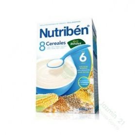 NUTRIBEN PAPILLA 8 CEREALES EFECTO BIFIDUS 600 G