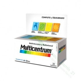 MULTICENTRUM CON LUTEINA 30 COMP